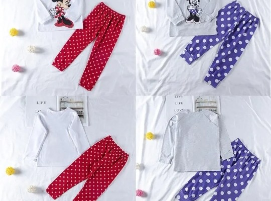 MICKEY PJ'S SETS FOR GIRLS