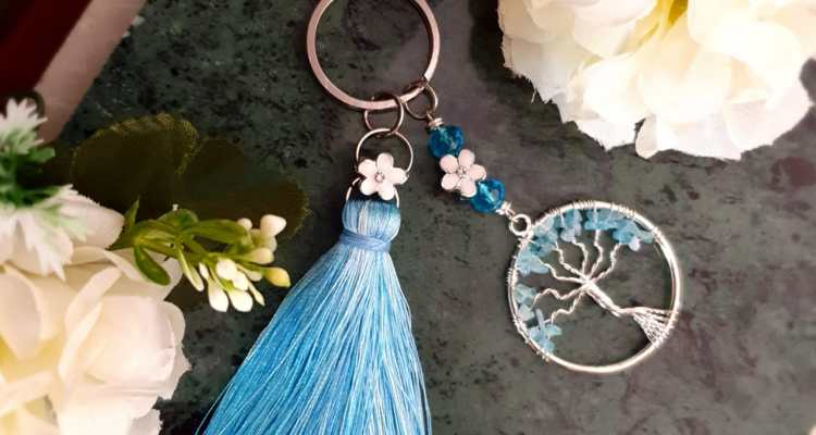 LUXE BEADED TREE OF LIFE BAG CLIP