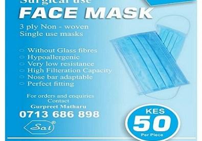 3 Ply Non Woven Masks