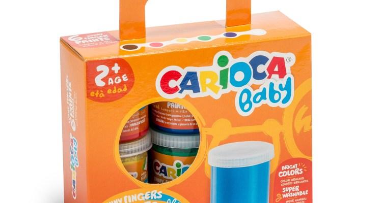 Carioca Baby Finger Paint – Box of 6 Jars