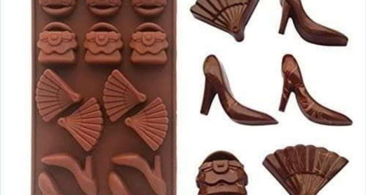 Silicone Handbag/Shoe/Fan Chocolate Mould   Ice/Jelly Shape Tray