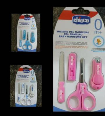 Chicco Child & Baby Manicure – Set Scissors Nail Filer & Clippers
