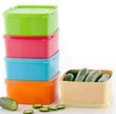 Tupperware Small Square Rounds (400ml x 5)