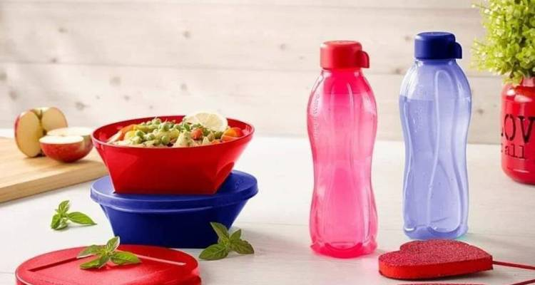 tupperware 2 x Outdoor Dining Bowl (600ml) and 2 x Eco Bottle (500ml)