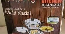 Kitchen Essentials Induction Steamer Cooker Kadai (2idli,2Dhokla,1PatraPlate)