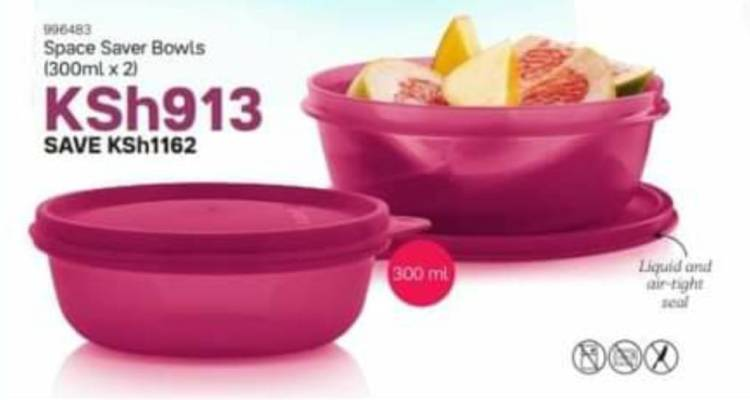 Tupperware Space Saver Leftover Bowls 300ml (x2)