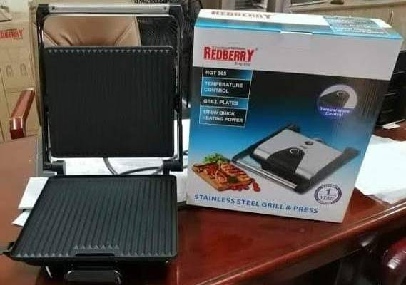 REDBERRY STAINLESS STEEL GRILL AND PRESS