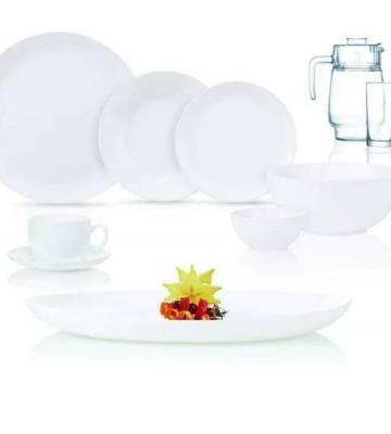 Luminarc White 46Pc Dinner Setk