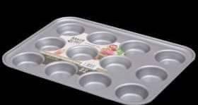 Baker & Salt Non-Stick Muffin Tin, 12 cup – Cup diameter 6.5cm