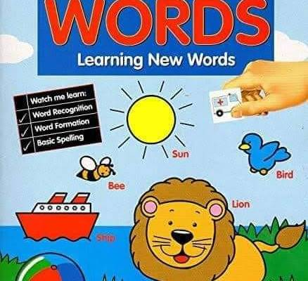 Paper Craft First Words – Preschool Sticker Activity Book – with Over 50 Stickers