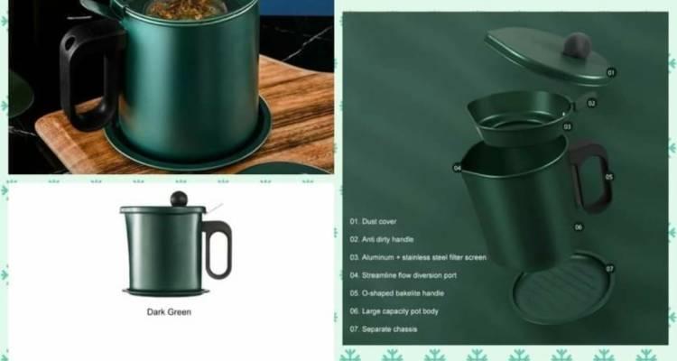 Oil Dispenser,Oil Filter Pot Cooking Oil Storage* (1.7 Ltr)