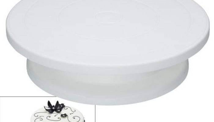 Sweetly Does It Cake Turntable/Rotating Cake Stand, White, 28.5 cm
