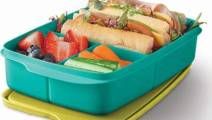 TUPPERWARE LARGE RECTANGLE LUNCH-IT DIVIDED DISH 1 Ltr.