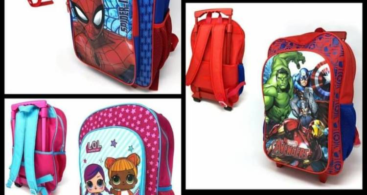 Children's Character Luggage Deluxe Wheeled Trolley Backpack Suitcase Cabin Bag School