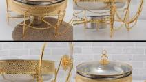Gold colour chafing dish