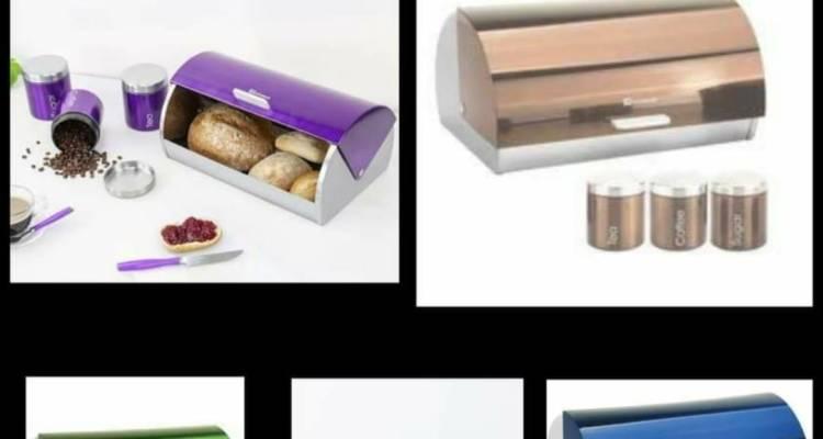 SQ professional Bread Bin & Canisters Set