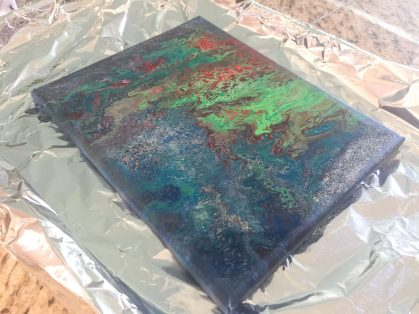 Acrylic pour finished 5