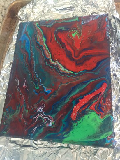 Acrylic pour finished 6