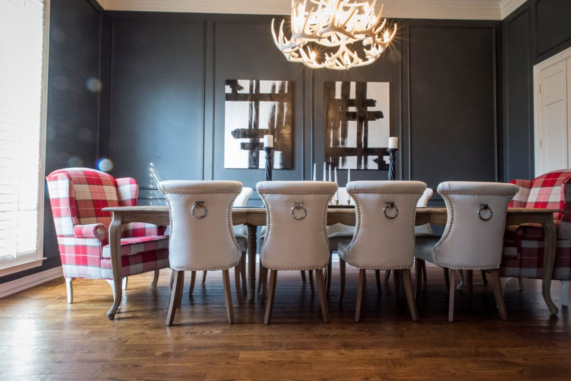 dark wall paint dining room inspiration