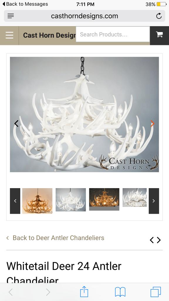 deer antler chandelier