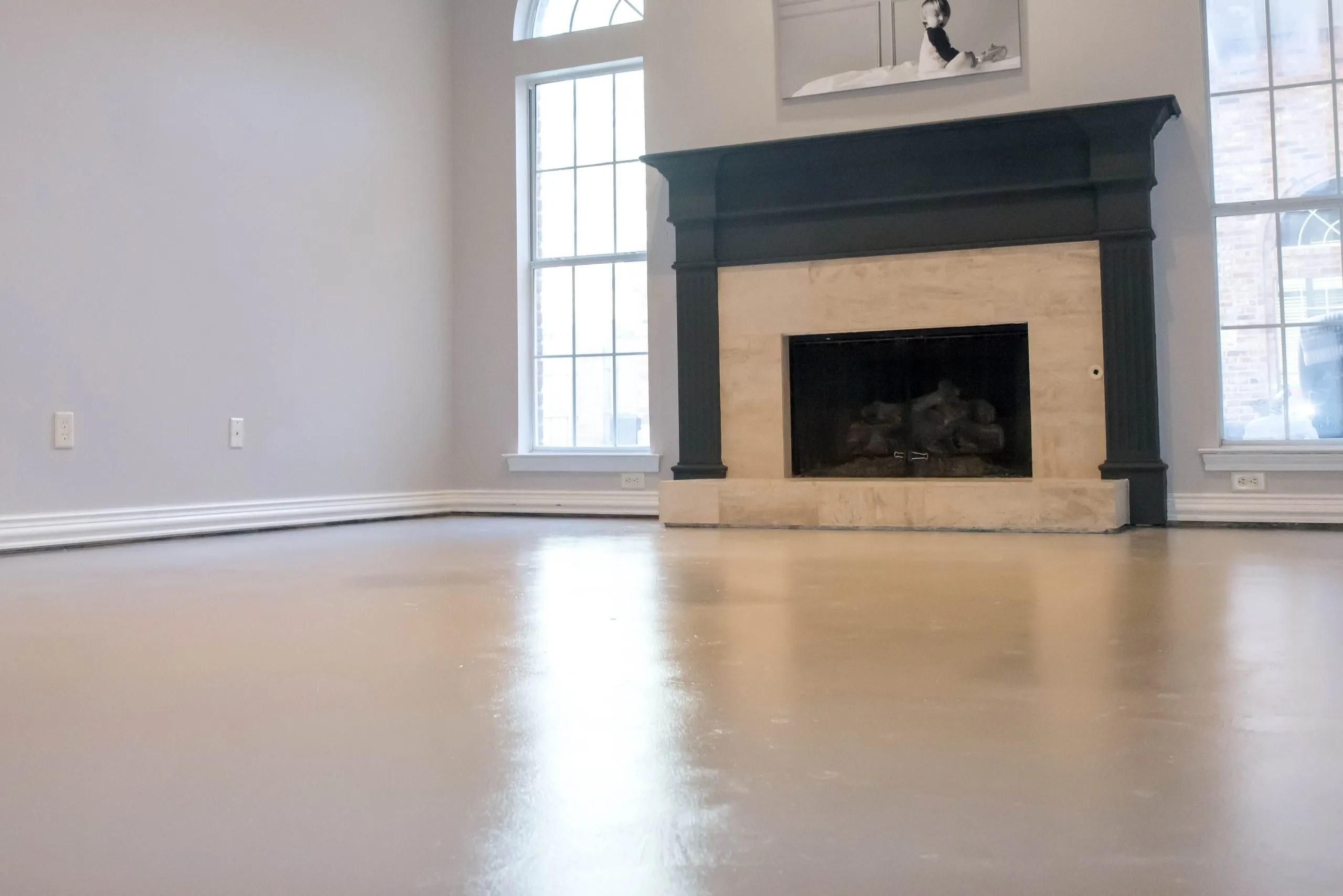 Master Bedroom Redo From Carpet to Concrete Floor