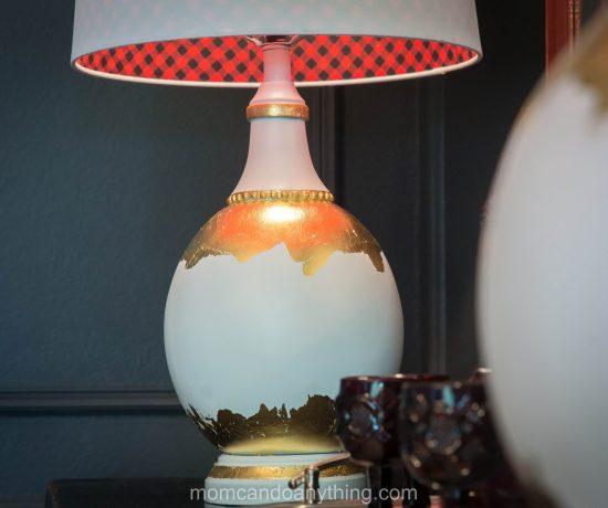 DIY Gold Leaf Lamp