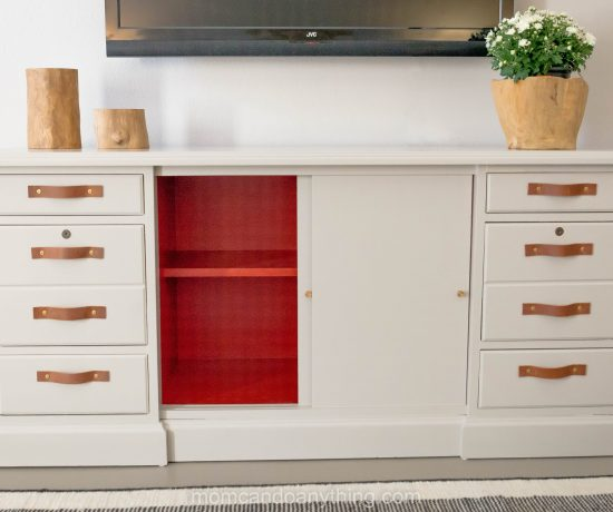 Easy DIY Furniture : From Office Credenza to Bedroom TV Hutch