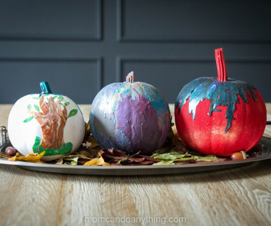 Pumpkin Decorating with Acrylic Skins