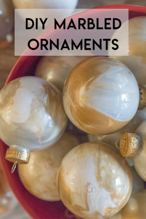 How To Make Marbled Christmas Ornaments
