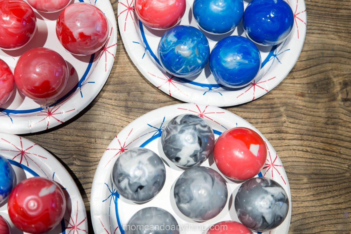 How to Make Marbled Ornaments