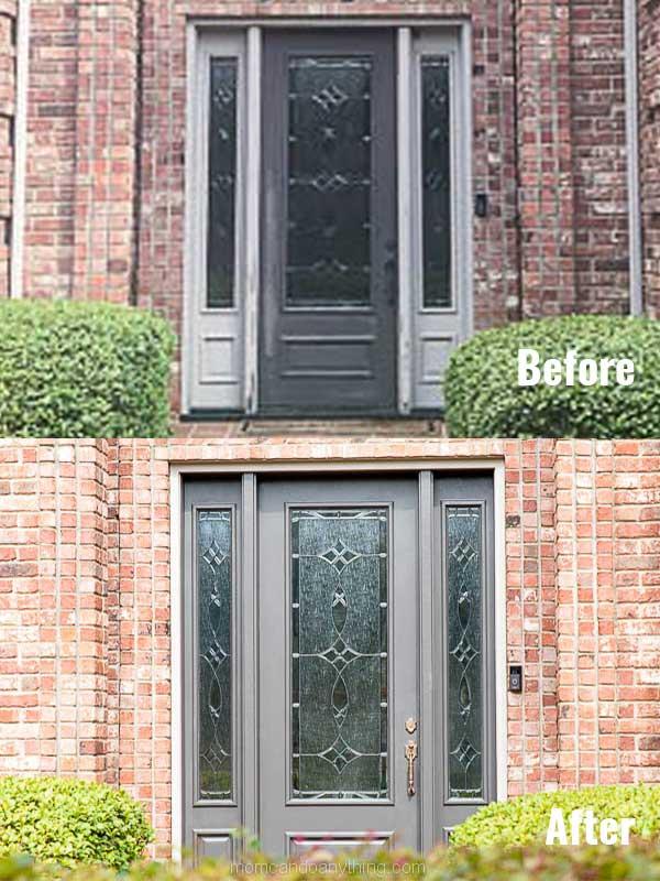 Paint your front door to make it look bigger