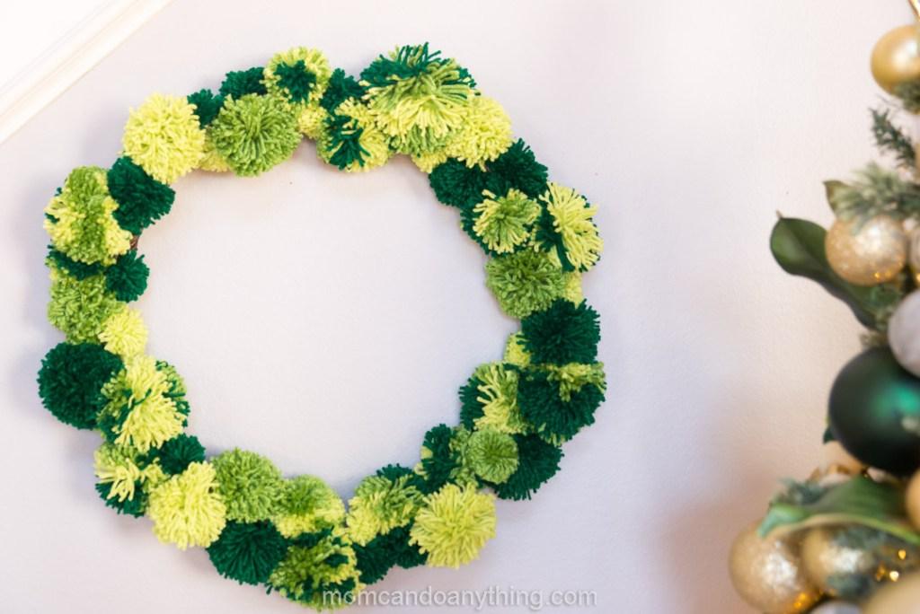 Hanging Pom Pom Wreath