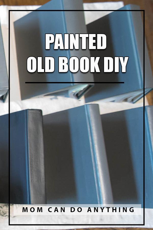 Pin Painted Old Book DIY