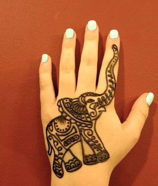 Elephant Mehndi Design  Kids Mehndi Designs  Mehndi