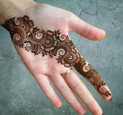 Very Simple Arabic Mehndi Designs For Hands Tattoos Ideas