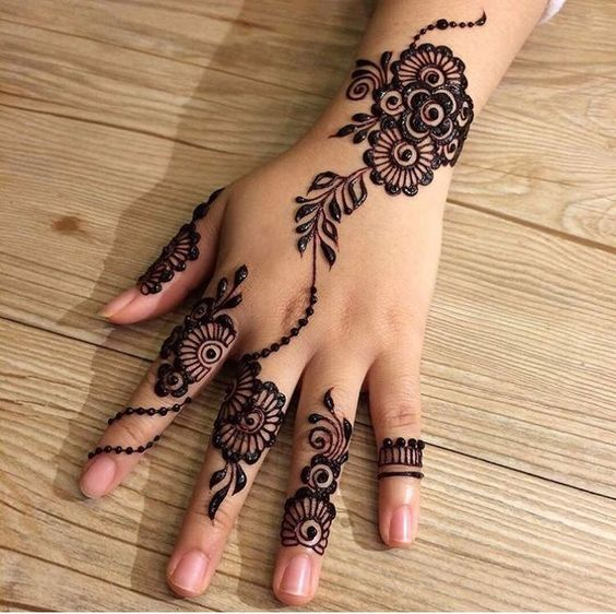 Back Side Simple Arabic Mehndi Designs For Back Hands
