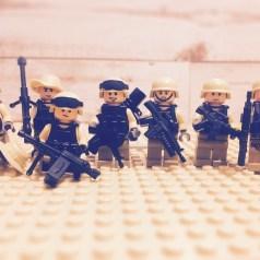 部隊の記念撮影