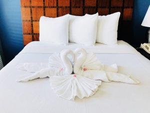 Who doesn't love a little creative towel arrangement?