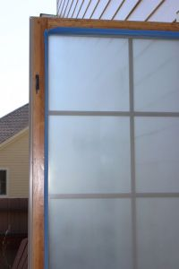 Frosting a window for privacy
