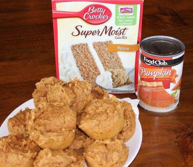 Pumpkin muffins - two ingredients!
