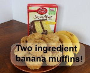 Two ingredient banana muffin.