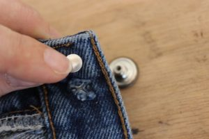 replace jean button