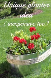 Make Unique Flower Planter Container Idea