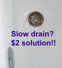 Slow Drains? Under $5.00 chemical free fix! - Momcrieff