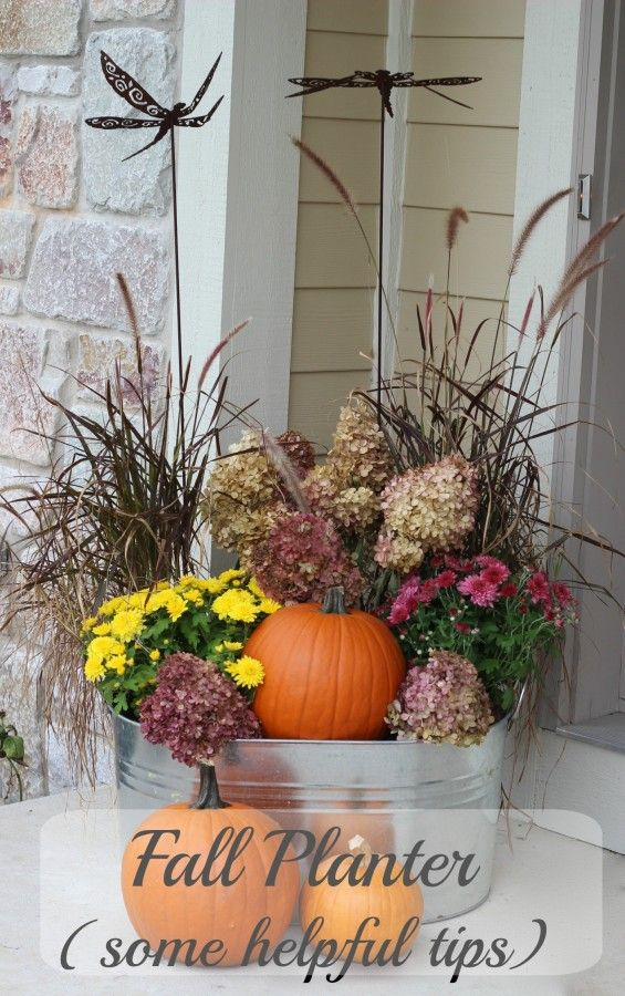 Fall Planter – reuse your grasses!