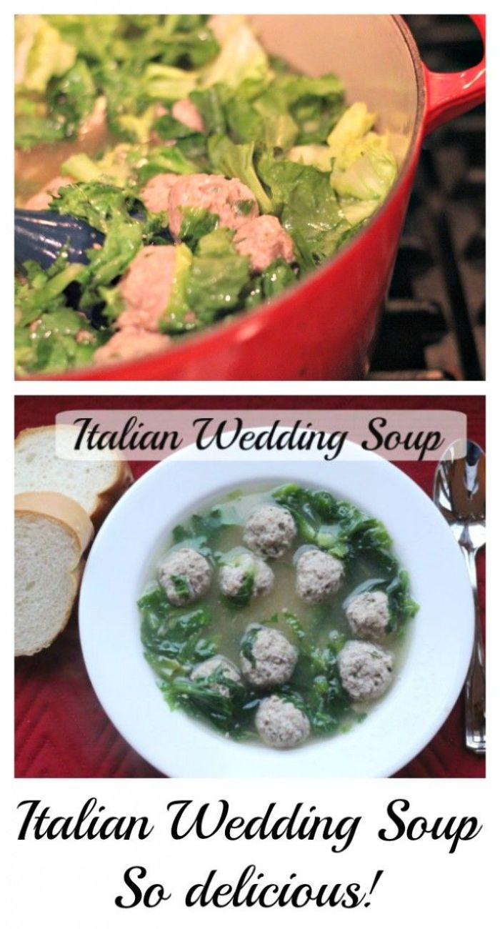 Italian wedding soup. Made from scratch. Delicious, hearty and healthy!