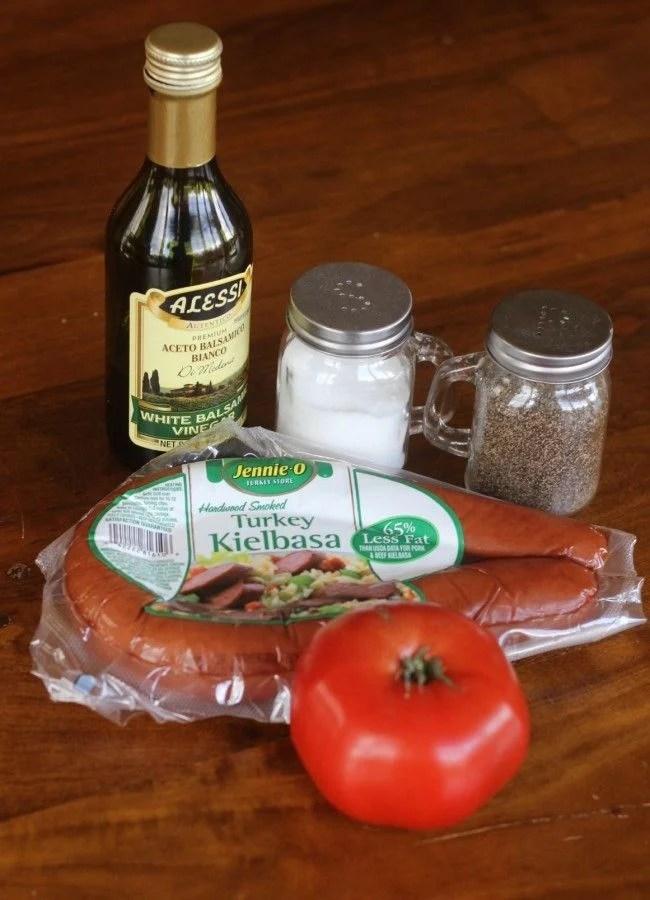 Tomato and Kielbasa salad