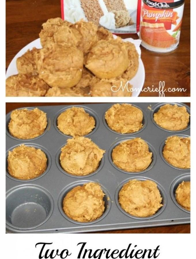 Pumpkin Muffins – TWO ingredients!