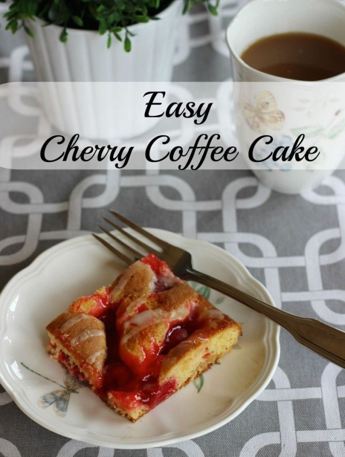 Easy Cherry Coffee Cake (use cake mix as a starter).