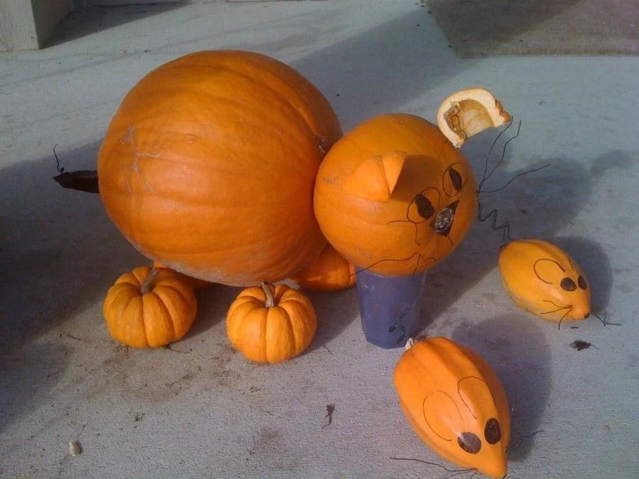 Porch and Pumpkin